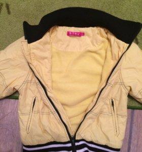 Куртки для девочки размер 128-130 6-7-8 лет