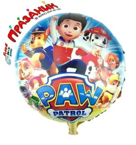 Фольгированные шары Щенячий Патруль
