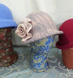 Шляпка валяная новая