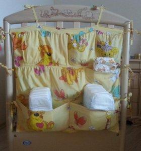 Органайзер (кармашки) для кроватки