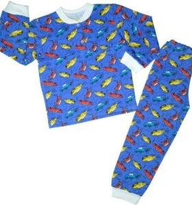 Новая тёплая пижама для мальчика