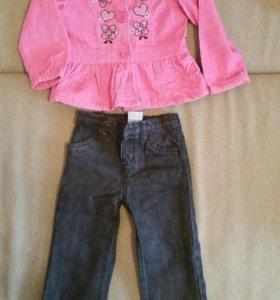 Детские джинсы и кофта (костюм) на девочку 4 года