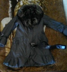 Зимняя куртка с натуральном мехом