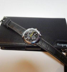 Мужское портмоне + часы Tissot