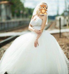 Скидка💯‼️Шикарное свадебное платье