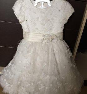 Нарядное белое платье !!!