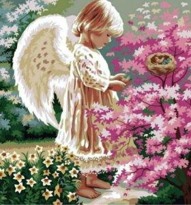 """Картина по номерам """"Ангел-хранитель"""""""