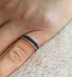 Кольцо сапфиры бриллианты