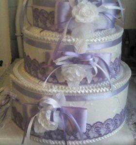 Свадебный торт для открыточек