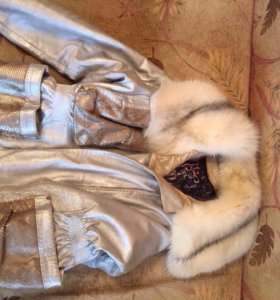 Куртка женская кожаная с мехом