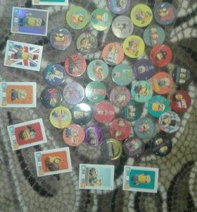 Продам фишки миньоны ( чипикао) и карточки