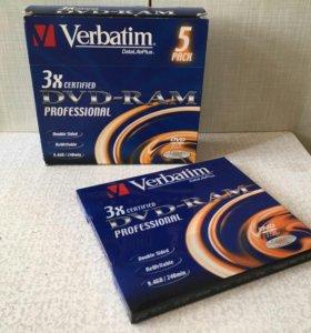 Диски DVD-RAM Verbatim 9,4GB ( новые в упаковке)