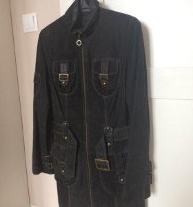 Кожаное замшевое пальто Fiomio р-р 42 (eu 36)