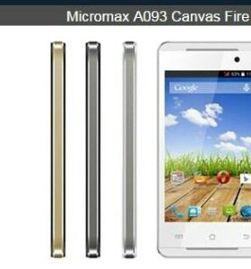 Смартфон Micromax Canvas Fire A093, новый с чеком