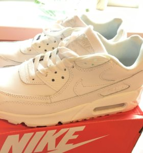 Кроссовки найк белые Nike air max 90