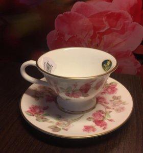 Новая кофейная чашка с блюдцем AYNSLEY