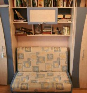Детская мебель.Гарнитур.Шкаф-стенка,кровать,тумба