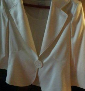 Жакет пиджак+блуза