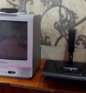 Телевизор SHARP + подставка навесная