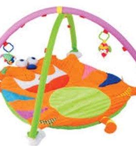 Развивающий коврик, бандаж, ходунки, круг