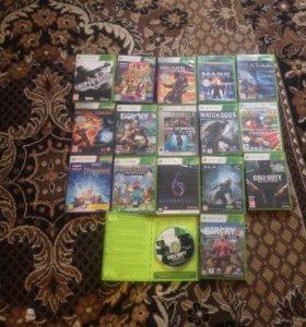 Xbox360 slim+30игр+2джойстика+Kinect+Флешка16GB
