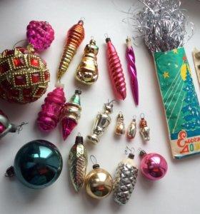 Елочные игрушки советской эпохи.