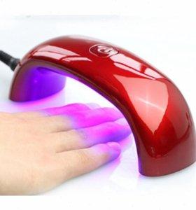 Мини LED лампа для сушки ногтей.