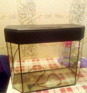 Продам аквариум,грунт,замок,сочек и компрессор.