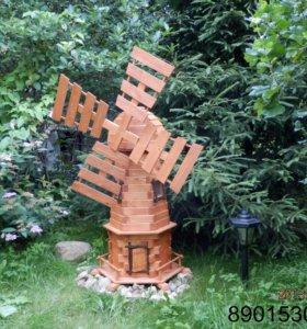 Мельница ветреная декоративная