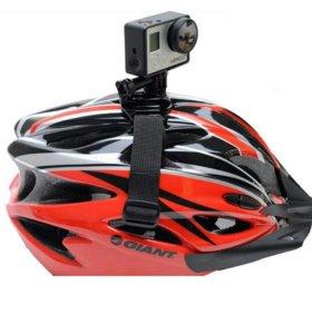 ✔Крепление на шлем для GoPro и других экшн камер