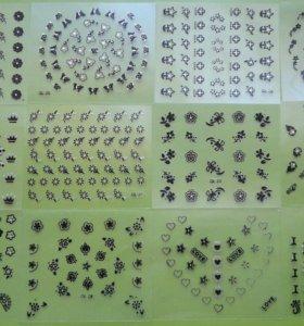 Наклейки для дизайна ногтей