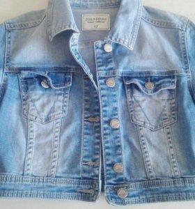 Пиджак джинсовый короткий
