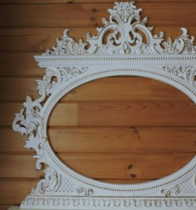 Рамки для зеркал из натурального дерева. Ручная р