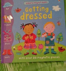 Английская книга магнит для детей