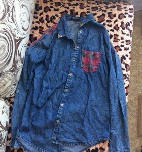 Джинсовая рубашка новая