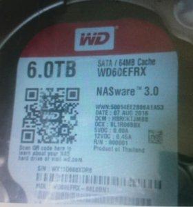 Жёсткий диск WD 6 ТБ red