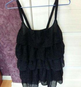 Туника платье черное,люрекс
