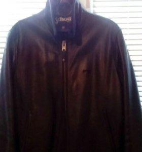 Куртка кожа,  тёплая,натуральная раз 46-48