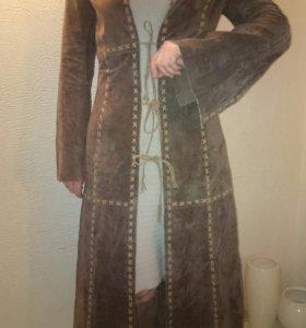 Плащ -пальто из натуральной замши