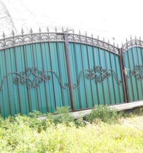 Ворота кованые В-101