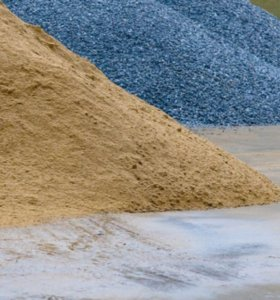 Песок, щебень, пгс.