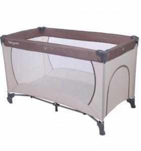 Манеж-кровать baby care rainbow синий