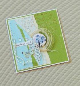 """открытка """"Загадай желание"""""""