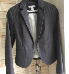 Пиджак серый, h&m, 42 размер, в отличном состоянии