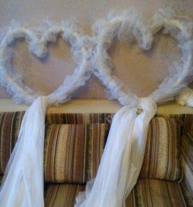 свадебные сердца