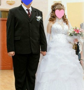 Свадебное платье с шубкой. Раздельно. Платье 4000