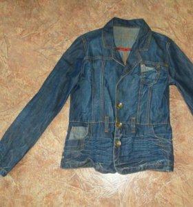 Джинсовая куртка - пиджак 44-46