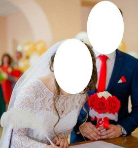 Свадебное платье пышное и нет (с кольцами пышное)