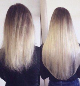 Наращивание волос/Коррекция