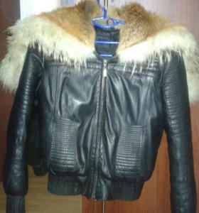 Куртка кожа с натуральным мехом
